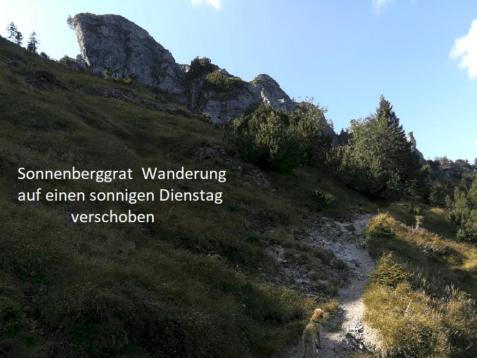 Read more about the article Sonnenbergwanderung verschoben